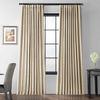 Glazed Parchment Blackout Extra Wide Faux Silk Taffeta Curtain
