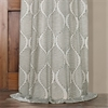 Dreamweaver Taupe Embroidered Faux Linen Curtain
