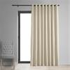 Signature Ivory Extra Wide Grommet Blackout Velvet Curtain