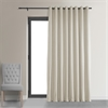 Signature Off White Extra Wide Grommet Blackout Velvet Curtain